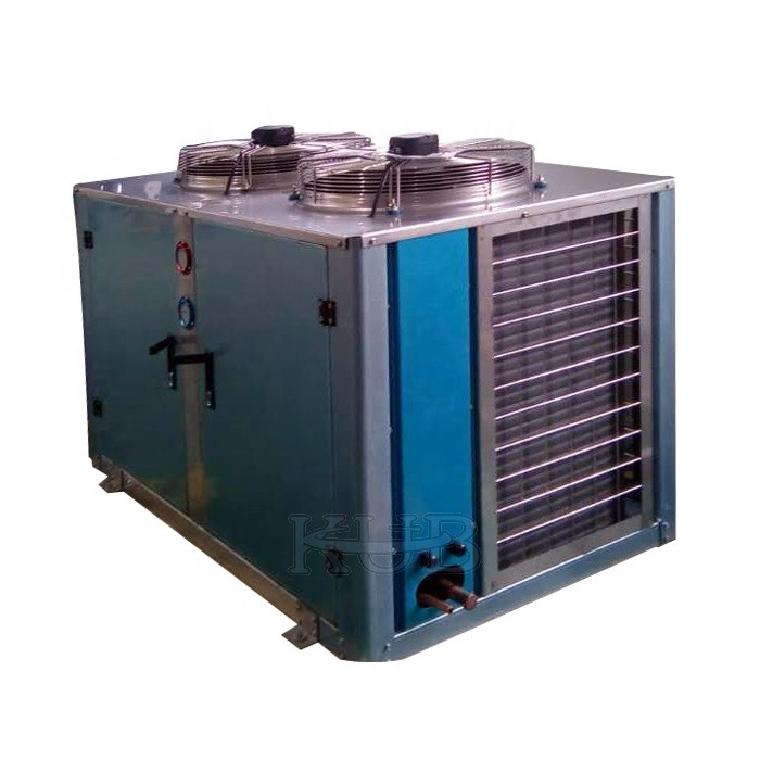10hp Freezer Condenser Unit , Outside Condenser Unit  U Type Corrosion Resistant For Food Processing