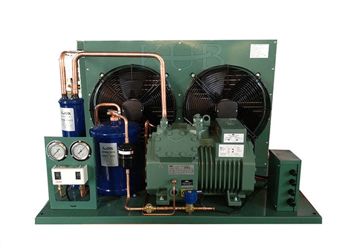 380V 5HP Bitzer Condensing Unit Long Lifespan 2 Fans Semi Hermetic Installed Conveniently